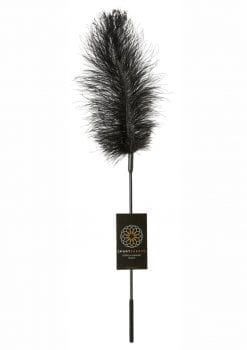 Body Tickler Ostrich Feather Tickler Black