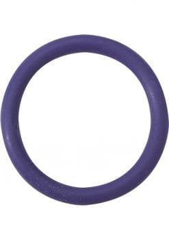 Rubber Cock Ring 1.5 Inch Purple
