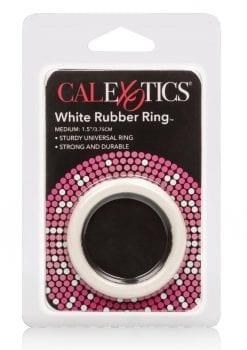 Rubber Cock Ring Medium 1.5 Inch Diameter White