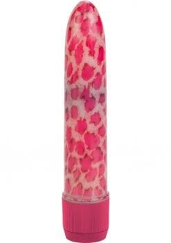 HOUSTONS PINK LEOPARD MASSAGER 4.5 INCH PINK
