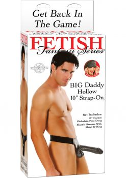 Fetish Fantasy Series Big Daddy Hollow Strap On Dong Black 10 Inch