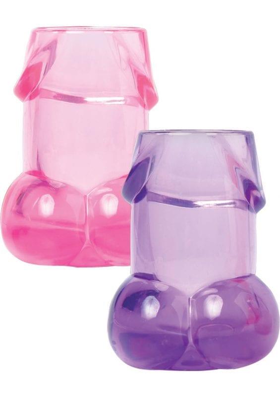 Bachelorette Party Favors Shot Glasses 6 Piece Set Assorted Colors