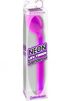 Neon Luv Touch Slender G Vibrator Waterproof 7.25 Inch Purple