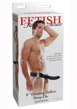 Fetish Fantasy Vibrating Hollow Strap On Black 8 Inch
