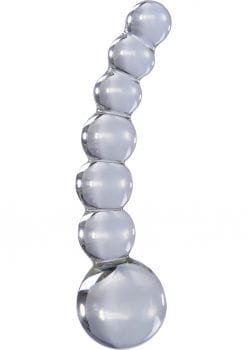 Icicles No 66 Beaded Anal Probe Clear 4.75 Inch