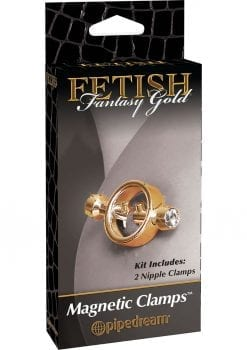Fetish Fantasy Gold Magnetic Nipple Clamps Gold