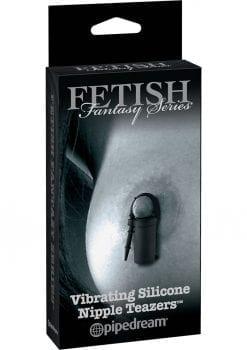Fetish Fantasy Series Limited Edition Vibrating Silicone Nipple Teazers Black