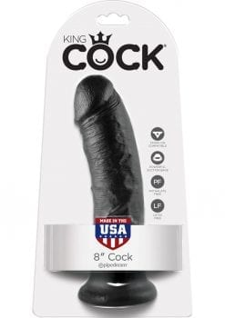 King Cock Realistic Dildo Black 8 Inch