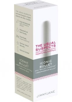 JimmyJane The Usual Suspects Iconic Bullet Vibrator Waterproof White