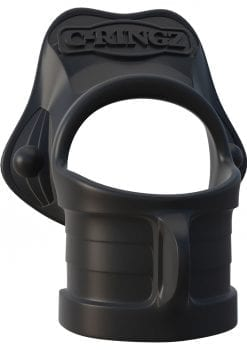 Fantasy C Ringz Rock Hard Ring and Ball Scretcher Silicone Cockring Black