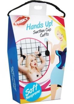 Frisky Hands Up Suction Cup Wist Restraints Black