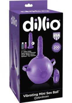 Dillio Vibrating Mini Sex Ball Kit Purple