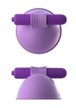 Fantasy For Her Silicone Vibrating Breast Suck-Hers Waterproof Purple