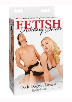 Fetish Fantasy Series Do It Doggie Harness Black