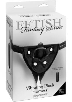 Fetish Fantasy Vibrating Plush Harness Adjustable Black