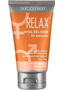 Relax Anal Relaxer For Everyone Water Based Lubricant (Boxed) 2oz