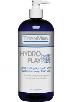 TitanMen Hydro Play Water Based Lubricant Glide 32 Ounce Pump