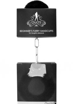 Ouch! Beginner`s Furry Handcuffs - Black