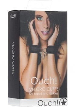 Ouch! Velcro Cuffs For Hands Or Ankles - Black