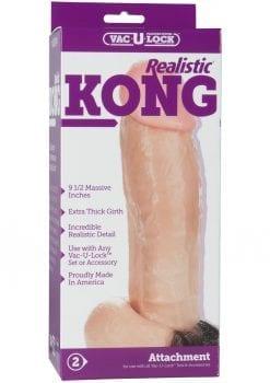 Vac-U-Lock Realistic Kong Firmskyn Dildo 8.5in - Vanilla