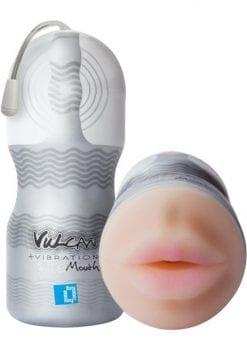Vulcan Ripe Mouth Vibrating Masturbator - Mouth - Vanilla