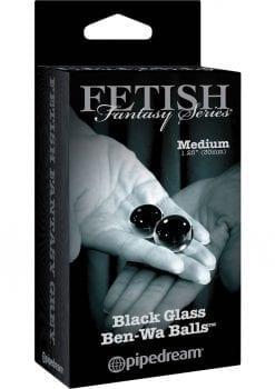 Fetish Fantasy Series Limited Edition Glass Ben-Wa Ball Black Medium 1.25 Inch Diameter