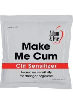 Adam and Eve Make Me Cum Clit Sensitizer Cream Foil Packs .08 Ounce 144 Each Per Tub