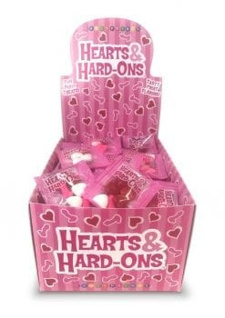 Candy Prints Hearts and Hard-Ons Counter Display (100 Bags Per Display)