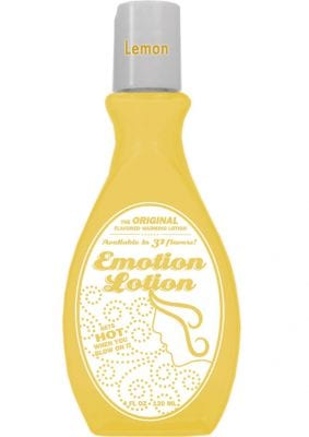 Emotion Lotion Water Based Flavored Warming Lubricant - Lemon 4oz