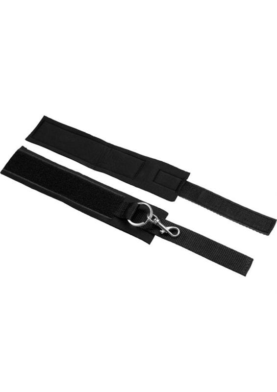 Master Series Interlace Over and Under the Bed Restraint Set - Black