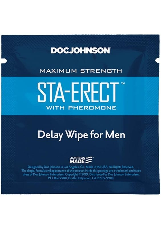 Sta-erect Delay Wipes For Men With Pheromones (10 Pack)