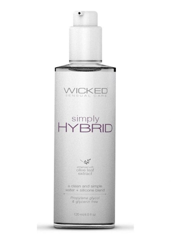Wicked Simply Hybrid Lubricant With Olive Leaf Extract 4oz