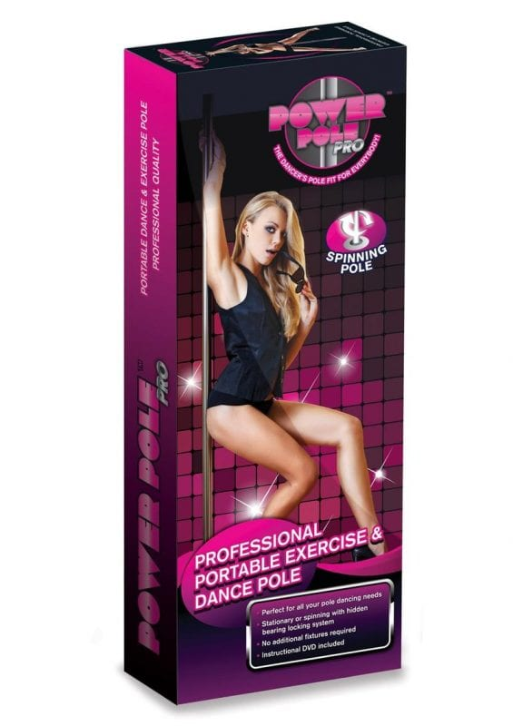 Power Pole Pro Professional Portable Exercise and Dance Spinning Pole Extends up to 9in