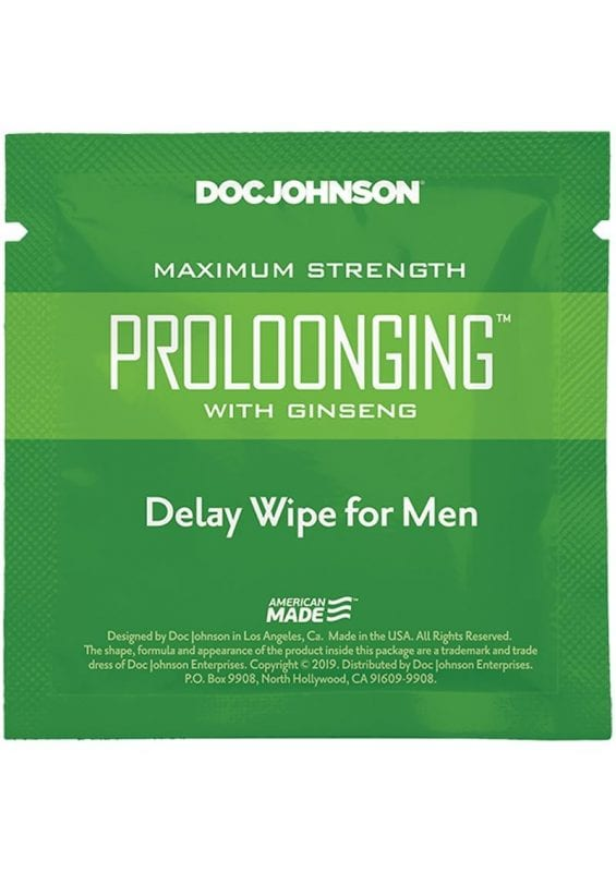 Proloonging With Ginseng Delay Wipes (10 Pack)