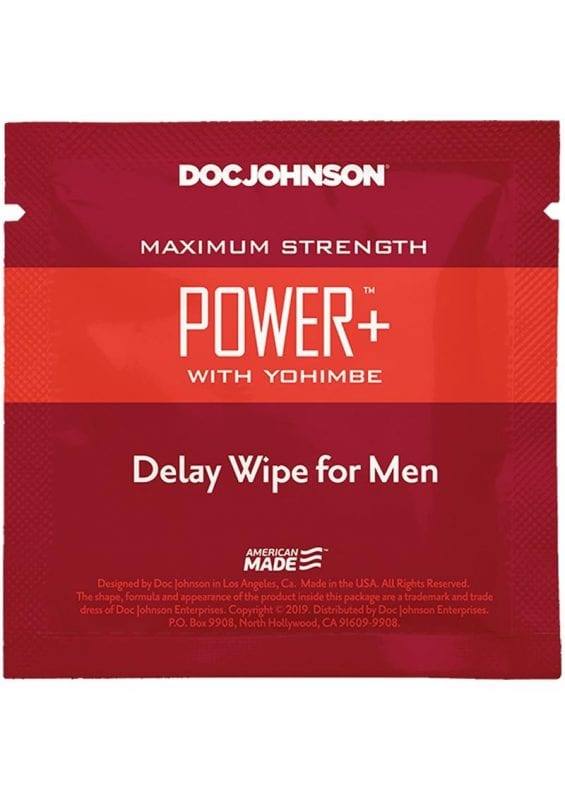 Power Plus With Yohimbe Delay Wipes (10 Pack)