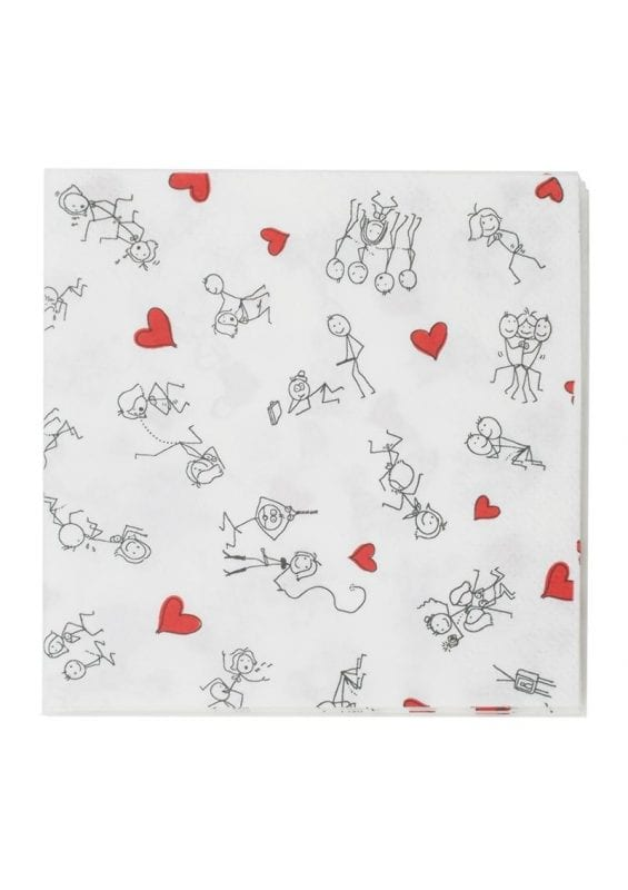 Candy Prints Dirty Napkins Stick Figure (8 Per Pack)