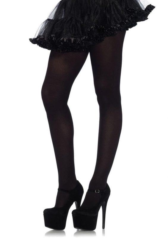 Leg Avenue Nylon Tights - OS - Black