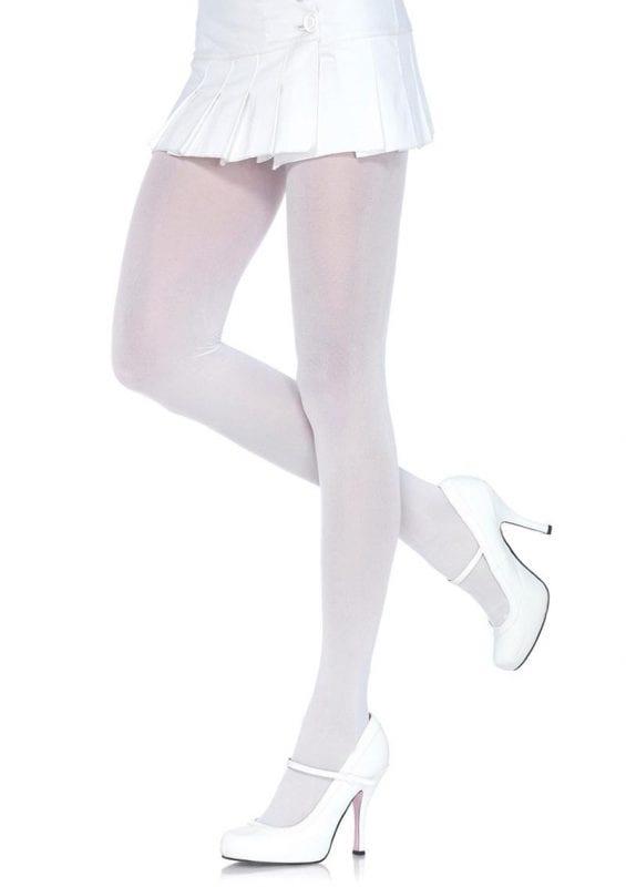 Leg Avenue Nylon Tights - OS - White