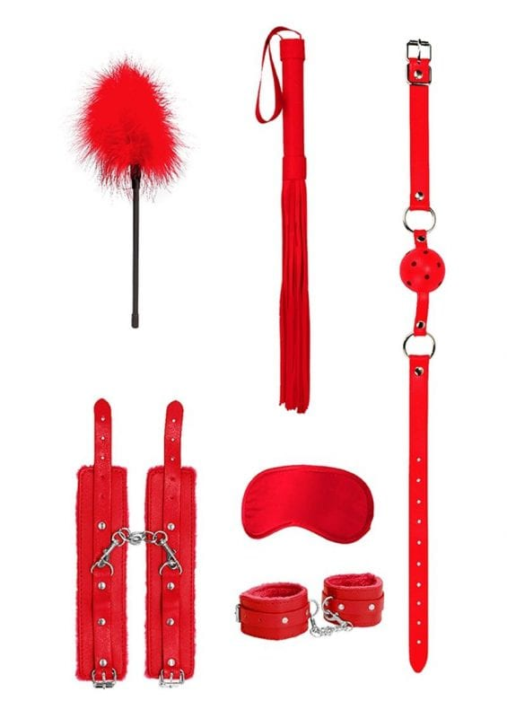 Ouch! Kits Beginners Bondage Kit (6 pieces) - Red