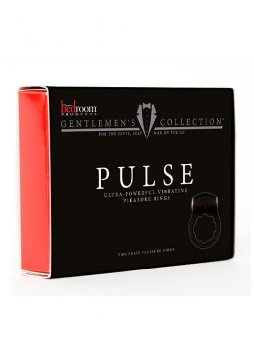 Pulse Vibrating Cock Ring (2 Per Pack) - Black