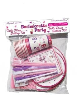 Bachelorette Party Table Place Setting Kit - Set of 10