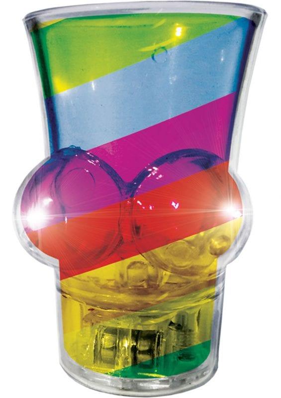 Light Up Rainbow Boobie Shot Glass Multi-Color