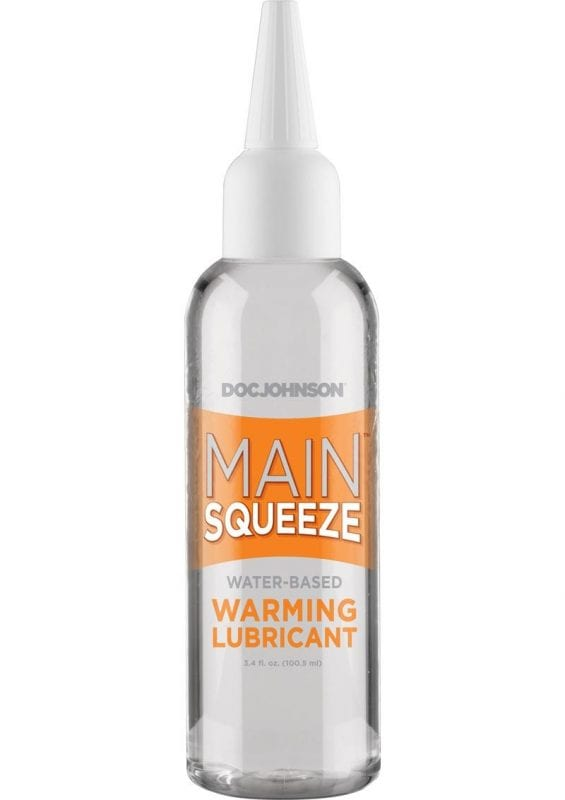 Main Squeeze Warming Water Based Lubricant 3.4oz