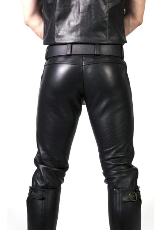 Prowler Red Leather Jeans 32in - Black