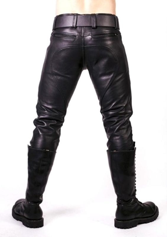 Prowler Red Prowler Leather Jeans 28in - Black