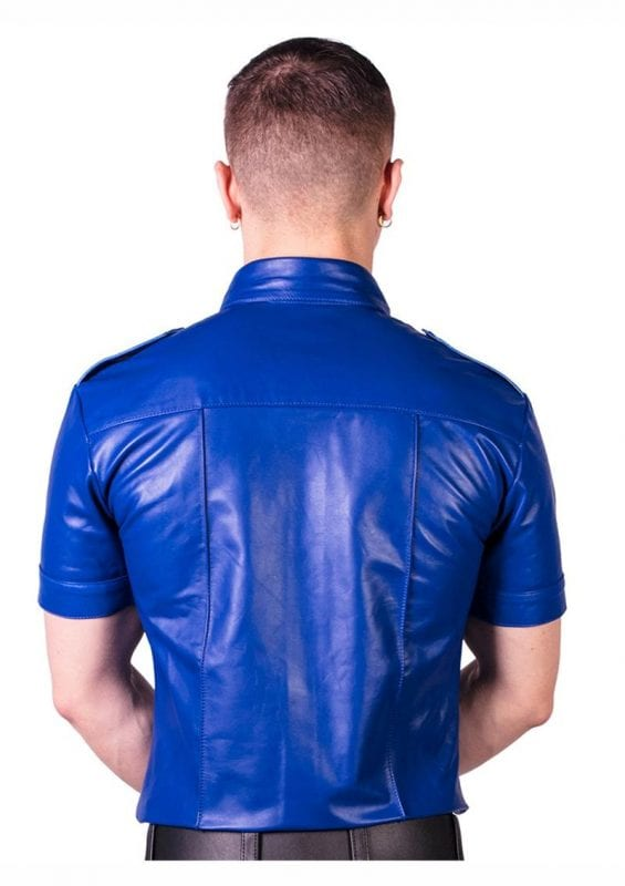 Prowler Red Slim Fit Police Shirt- Large - Blue