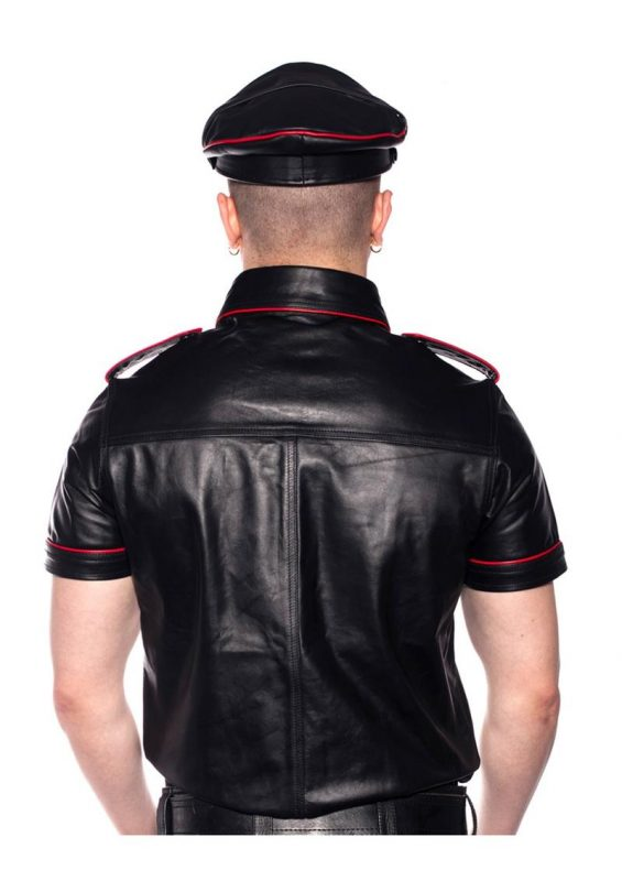 Prowler Red Police Shirt Piped - XSmall - Black/Red