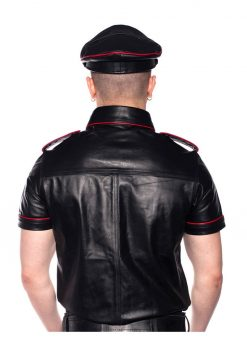 Prowler Red Police Shirt Piped - 2XLarge - Black/Red