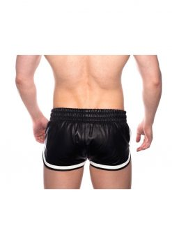 Prowler Red Leather Sport Shorts - XLarge - Black/White