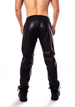 Prowler Red Leather Joggers - XLarge - Black/Red